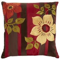 Aari Embroidered Flowers Pillow - Pier1 US
