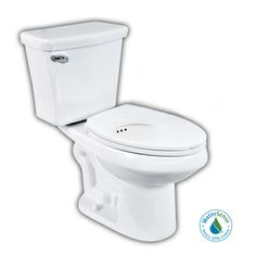 Penguin Toilets Penguin White High Efficiency WaterSense Elongated 2-Piece Toilet with Overflow Protection