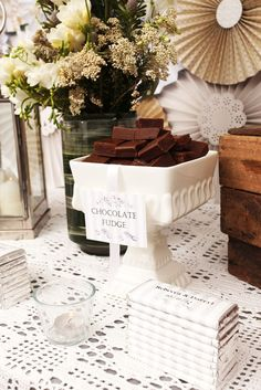 Chocolate Wedding Buffet #wedding #buffet