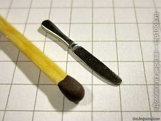Dollhouse Knife From Galvanized Nail