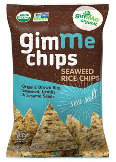 Organic Seaweed Rice Chips - Sea Salt | Cruncheliciously good with a hint of sea salt. What makes every bite taste so savory flavory good? Organic ingredients, seasoned to perfection. We add our finest roasted seaweed to organic brown rice, lentils, and sesame seeds then season with a pinch of sea salt. Crunch, crunch. Yum! Snacking healthy has never tasted so good! USDA Organic Gluten Free Non GMO Verified Cruncheliciously Good!