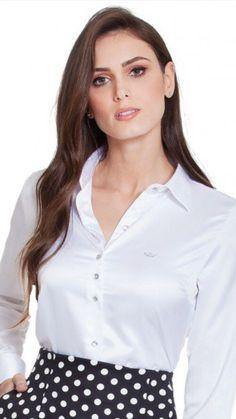 7f492e31ee 42 melhores imagens de Camisas sociais femininas
