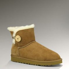 Oh Uggs. I resisted you for so long. But now that my feet found you I don't think I will ever let go. You make me so very cozy Mini Bailey Button boot/slipper/fuzzy foot cozie. Classic Ugg Boots, Ugg Classic, Classic Mini, Cheap Snow Boots, Ugg Boots Sale, Uggs For Cheap, Buy Cheap, Mini Baileys, Ugg Bailey Button