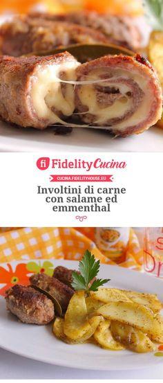 Involtini di carne con salame ed emmenthal