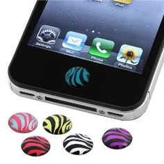 Home Button Sticker for iPhone/ iPad / iPod touch, Zebra Patterns - 6 pieces