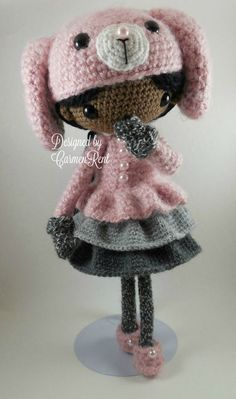 June and her Rabbit Amigurumi Doll Crochet Pattern PDF