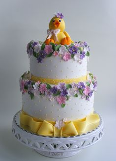Little duck cake - Cake by Bubolinkata Gorgeous Cakes, Pretty Cakes, Amazing Cakes, Christening Cake Girls, Duck Cake, Birthday Cake For Mom, 2nd Birthday, Just Cakes, Cake Gallery
