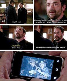 Crowley and Dean - demon bromance. #Supernatural