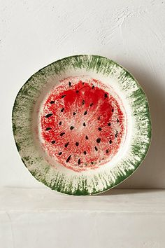 Watermelon Dessert Plate #anthropologie #pintowin