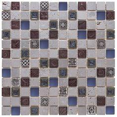 Malla Decorativa Ancient  con mezcla de piedra natural en diferentes diseños estilo rustico, colores gris y café. Grosor (cm) 0.8