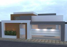 Trendy exterior house front home plans ideas House Gate Design, Garage Door Design, House Front Design, Facade Design, House Paint Color Combination, Dome House, Minimalist House Design, House Elevation, Exterior House Colors