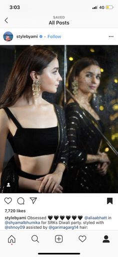 Diwali Party, Hair, Tops, Women, Style, Fashion, Swag, Moda, Stylus