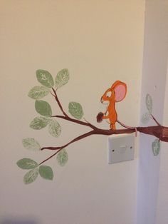 Woodland bedroom mural cont. - The Gruffalo