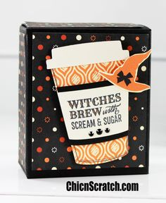 Spooky Night Halloween Box Featuring the Merry Cafe Stamp Set, made during Facebook Friday 29 with Stampin' Up! Demonstrator Angie Juda