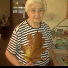 She was so proud of this huge leaf she found. Be Proud, Mom, Mothers