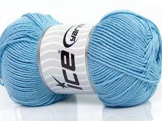 Fiber Content 50% Bamboo 50% Cotton Light Blue Brand Ice Yarns fnt2-44108 Baby Bamboo, Bamboo Light, Cotton Lights, Crochet Hooks, Baby Blue, Superman, Light Blue, Throw Pillows, Wool