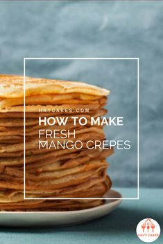 How to make Fresh Mango Crepes  This article will guide you on how to make mango crepes. These sweet crepes are ideal for a dessert treat for your loved ones and friends. It only requires some practice with swirling the pan while you are cooking crepes. That's it. So let's start to make some sweet and tasty mango crepes.  #howtomakeMangoCrepes #mangocrepesrecipes #havycakes #howtomakecrepes Crepe Delicious, Delicious Cake Recipes, Yummy Cakes, Dessert Recipes, Mango Crepes Recipe, Crepe Maker, How To Make Crepe, Mango Cake, Crepe Recipes