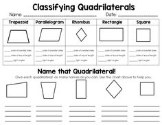 Classifying 2d Shapes-polygons,triangles, & Quadrilaterals, Oh My