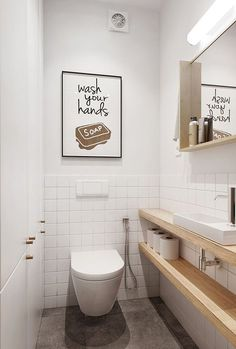 Space-saving toilet design for small bathrooms - Home to Z. Space-saving toilet design for small bathrooms - Home to Z. smalltoiletroomsmalltoiletroomSpace-saving toilet design for small bathrooms - at home for Z Space-saving toilet design for Small Toilet Design, Small Toilet Room, Guest Toilet, Small Toilet Decor, Bathroom Toilets, Laundry In Bathroom, Downstairs Bathroom, Bathroom Pink, Bathroom Storage