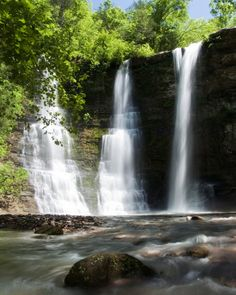 14 Waterfalls in Arkansas - Triple Falls: Located in the Buffalo National River Wilderness Area of the Arkansas Ozark Mountains near Camp Orr, a Boy Scout facility. From Jasper, go west on Ark. 74, turning right at the Camp Orr Boy Scout Camp sign. Follow the steep dirt road to the bottom of the valley. There you�ll find a sign for Twin Falls � the waterfall is called Twin and Triple Falls � yet the sign says TWIN FALLS. It is then a short and easy hike to see another Natural State wonder…