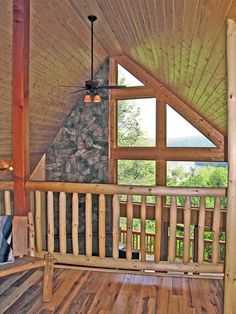 Log home loft with great views - plan 016D-0102 - houseplansandmore.com