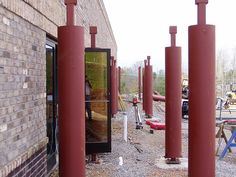 Here's a picture of steel columns from a job Tillman did consulting on.