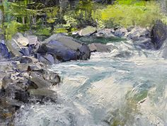 "Sol Duc Cascades by Mike Wise Oil ~ 9"" x 12"""
