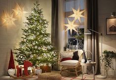 〚 Big selection of fresh ideas for New Year and Christmas decoration by IKEA 〛 ◾ Photos ◾Ideas◾ Design Christmas Plants, Real Christmas Tree, Christmas And New Year, Christmas Tree Decorations, Holiday Decor, Holiday Tree, Christmas Images Hd, Merry Christmas Pictures, Merry Xmas