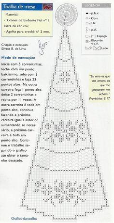 ::ArtManuais- Tecnicas de Artesanato em crochê Crochet Thread Patterns, Graph Crochet, Crochet Doily Diagram, Crochet Square Patterns, Crochet Mandala, Crochet Round, Crochet Doilies, Crochet Lace, Crochet Bedspread