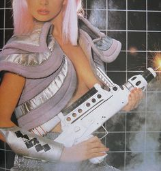 excerpt from the manual of nude photography. Space Fashion, 80s Fashion, Disco Fashion, Light Grid, Retro Images, Space Girl, Crazy Colour, Boy London, Post Punk