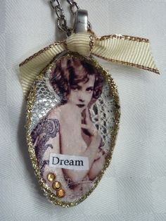 altered spoon into necklace pendant