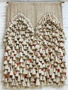 Sheila Hicks: Double Prayer Rug, Silk, linen, cotton and gold thread, 203 ×… Art Fibres Textiles, Textile Fiber Art, Weaving Textiles, Tapestry Weaving, Diy Pompon, Sheila Hicks, Creation Deco, Prayer Rug, Passementerie