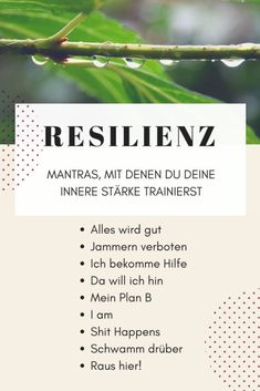 Inner strength and resilience - what is it and how do I get it? - Mantras for more resilience and inner strength - Mantra, Jnana Yoga, Stark Sein, Psychology Quotes, Forensic Psychology, Educational Psychology, Developmental Psychology, Educational Leadership, Color Psychology