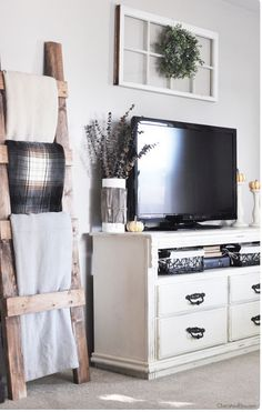 simple decoration ideas for living room. A Ladder Blanket Rack Isn T Just A Functional  Space Saving Piece Anymore Get Styling Inspiration From These Chic And Cozy Spaces Easy Farmhouse Style TV Stand Makeover Feeling Blah Tired