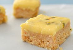 This gorgeous no-bake passionfruit slice combines a sweet, lemony biscuit base with a creamy passionfruit icing, and we just know you won't be able to resist it! Passionfruit Slice, Passionfruit Recipes, Sweets Recipes, Baking Recipes, Cake Recipes, Desserts, Biscuit Base Recipe, No Bake Slices, Pancakes