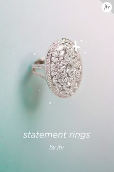 Explore statement rings for every style at JTV. Browse our selection of statement rings to find cocktail-ready rings for every day or night on the town. Jewelry Rings, Jewelry Accessories, Fine Jewelry, Jewelry Design, Unique Jewelry, Pretty Rings, Beautiful Rings, Bling Bling, Tattoos For Women On Thigh