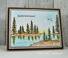 Handmade Masculine Birthday Card with Gina K. Designs Framescape Winter Trees and Hero Arts Yummy Treats Masculine Birthday Cards, Handmade Birthday Cards, Masculine Cards, Man Birthday, Happy Birthday, Make Up Your Mind, Winter Trees, Winter Landscape, Nature Scenes