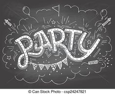 Výsledek obrázku pro party drawing invitation