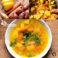 Kuchařka ze Svatojánu: ŽLUTÁ POLÉVKA Thai Red Curry, Soup Recipes, Ethnic Recipes, Soups, Food, Turmeric, Essen, Soup, Meals