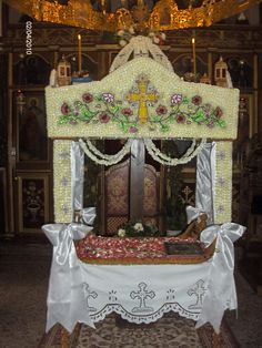 Greek Easter, Cutwork, Happy Easter, Valance Curtains, Catholic, Home Decor, Monuments, Nun, Floral Arrangements