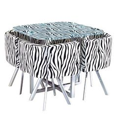 $148 Zebra Table set I really want it!!!!!!