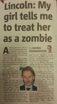 Andrew Lincoln article