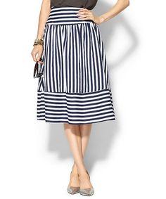 Über Chic for Cheap: Spied: Stripe Panel Skirt