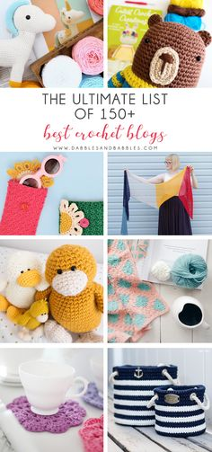 The Ultimate List of 150 Best Crochet Blogs - This is your go-to crochet resource. It has everything you need for your future crochet projects including crochet afghan patterns, crochet scarf patterns, crochet hat patterns and everything in between. #crochetpatterns #crochetblogs #crochetbloggers Knitting Blogs, Crochet Blogs, Love Crochet, Learn To Crochet, Crochet Crafts, Crochet Flowers, Crochet Projects, Crochet Basics, Afghan Crochet Patterns