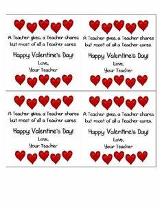 valentine's day card note