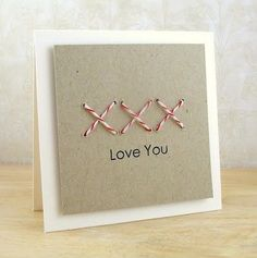 Stitched with Love! by Aimes - Cards and Paper Crafts at Splitcoaststampers Cute Cards, Diy Cards, Your Cards, Diy Homemade Cards, Card Making Inspiration, Making Ideas, Color Inspiration, Scrapbook Cards, Scrapbooking