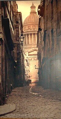 Rue des Sept-Voies de la rue Saint-Hilaire, 1856,  Charles Marville. French Photographer