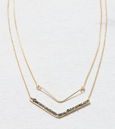 AEO Tiered Chevron Necklace