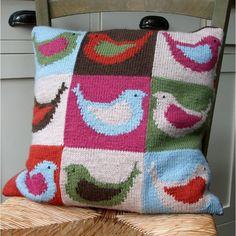 Birdy Cushion Knitting pattern by fyberknitics | Knitting Patterns | LoveKnitting