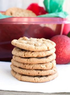Chewy Cinnamon Oatmeal Cookies are delightfully chewy with a hint of cinnamon